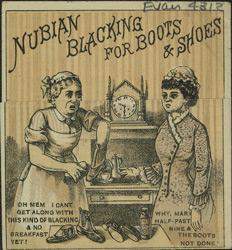 Advert for Nubian Blacking, shoe polish